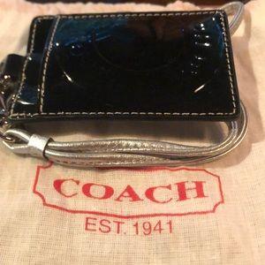 NWT Coach Black Patent Leather Lanyard.
